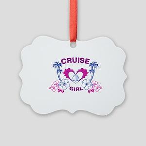cruise-girl Picture Ornament