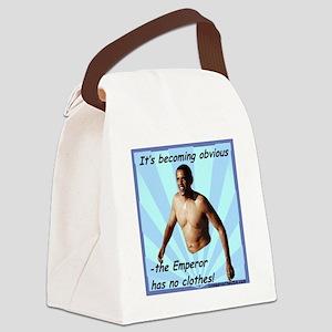 Obama Emperor Has No Clothes p Canvas Lunch Bag