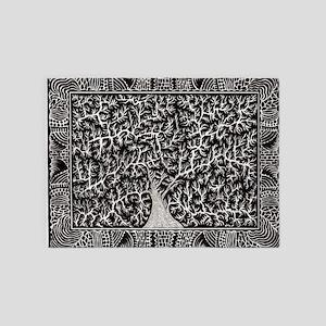 Sleeping Tree-2 5'x7'Area Rug