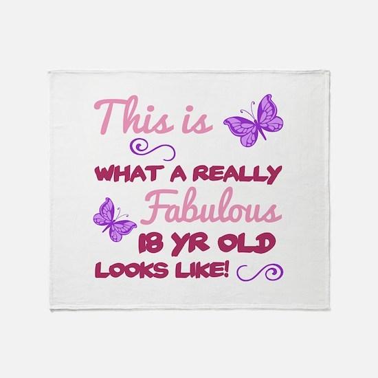 Fabulous 18th Birthday Throw Blanket