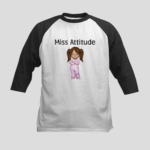 Miss Attitude Kids Baseball Jersey