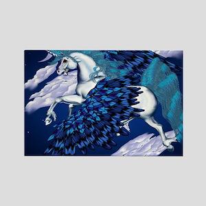 Winged Unicorn _mpad Rectangle Magnet