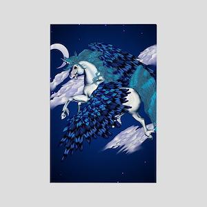 Winged Unicorn _journal Rectangle Magnet