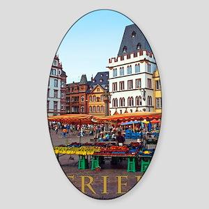 Trier - Hauptmarkt Sticker (Oval)