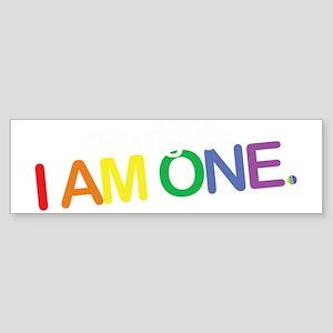 gayrights-iamone_dark Sticker (Bumper)