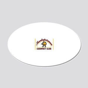 unhappy golf ball 2 20x12 Oval Wall Decal