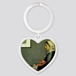 mother tiger lap copy Heart Keychain