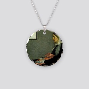 mother tiger lap copy Necklace Circle Charm