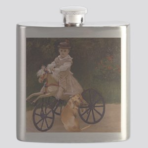 tiger lil girl tri 16x12 copy Flask
