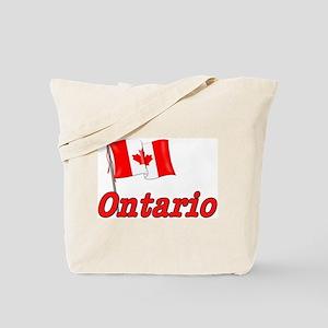 Canada Flag - Ontario Text Tote Bag