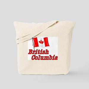 Canada Flag - BC Text Tote Bag