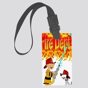 1firedept4flames Large Luggage Tag