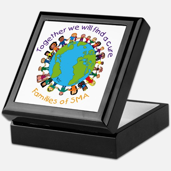 Together_world_blk Keepsake Box