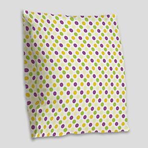 Colorful Polka Dots Burlap Throw Pillow