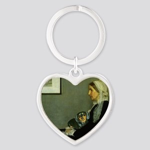 mother lily lap copy Heart Keychain