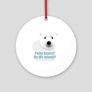 polar black Round Ornament