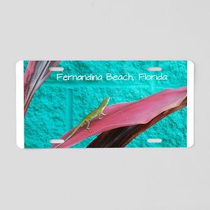 Holy Anole Fernandina Beach Aluminum License Plate