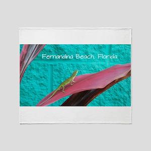 Holy Anole Fernandina Beach Throw Blanket