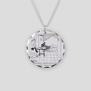 1974_groundhog_cartoon Necklace Circle Charm