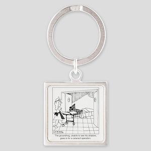 1974_groundhog_cartoon Square Keychain