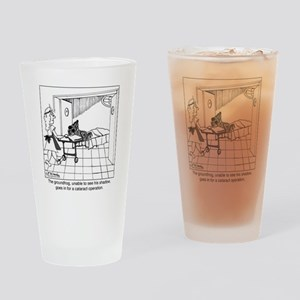 1974_groundhog_cartoon Drinking Glass