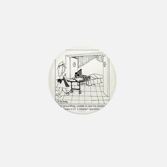 1974_groundhog_cartoon Mini Button
