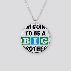 back Big Bro Necklace Circle Charm