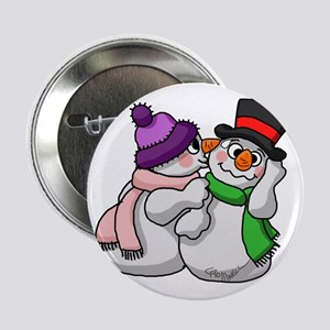 """Snow Lovers 2.25"""" Button"""