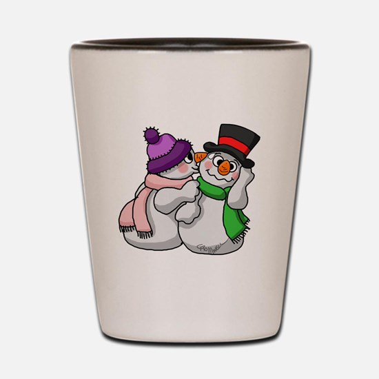 Snow Lovers Shot Glass