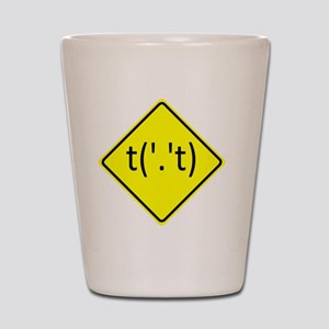 Flip-Off-Sign-10x10 Shot Glass