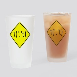 Flip-Off-Sign-10x10 Drinking Glass