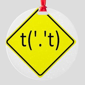 Flip-Off-Sign-10x10 Round Ornament
