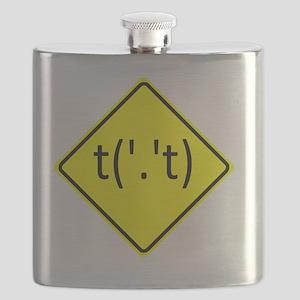 Flip-Off-Sign-10x10 Flask