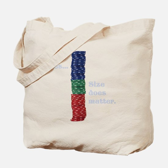 Size does matter poker graphic Tote Bag