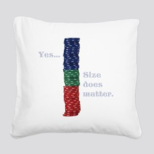 Size does matter poker graphi Square Canvas Pillow