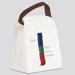 Size does matter poker graphic Canvas Lunch Bag