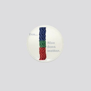 Size does matter poker graphic Mini Button