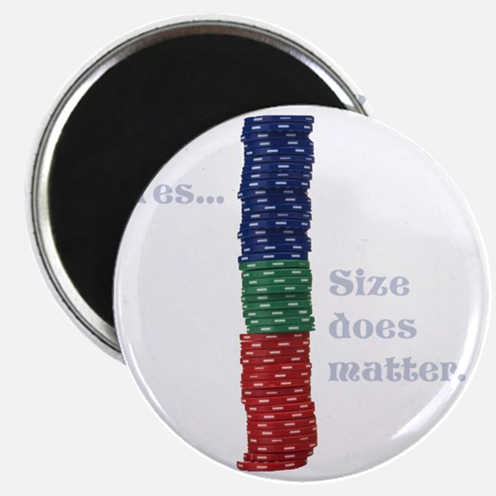 Size does matter poker graphic Magnet