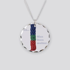 Size does matter poker graph Necklace Circle Charm