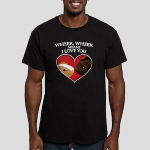 wheekwheekK Men's Fitted T-Shirt (dark)