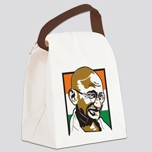 ghandinotext Canvas Lunch Bag
