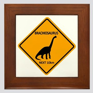 rs_brachiosaurus Framed Tile