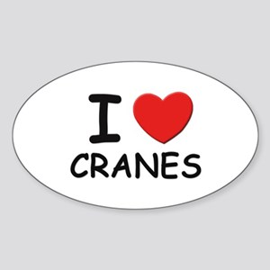 I love cranes Oval Sticker