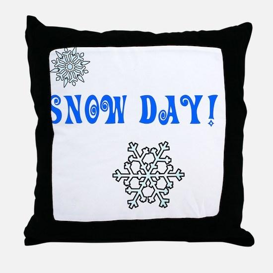 Snowday Throw Pillow