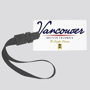 Vancouver Script W Large Luggage Tag