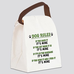 Dog Rules Canvas Lunch Bag