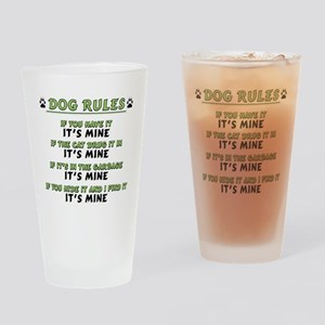 Dog Rules Drinking Glass