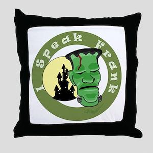 Speak Frank Throw Pillow