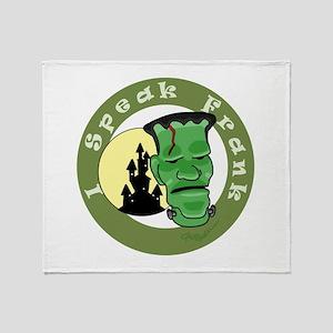 Speak Frank Throw Blanket