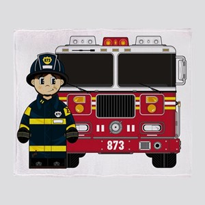 Fireman Pad1 Throw Blanket